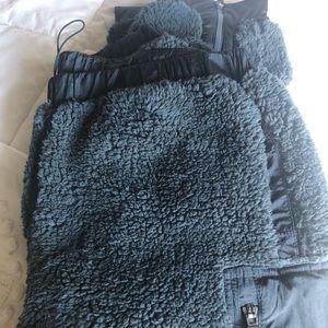 Free People Pants & Jumpsuits - FREE PEOPLE Sherpa Fleece Jogger Zipper Pant NWOT